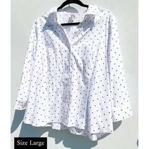 Black & White Dotted Blouse